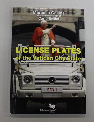 License plates of the Vatican City State